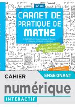 Carnet de pratique de Maths - Manuel numérique enseignant -  Éd. 2021