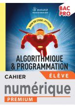 Cahier d'algorithmique et de programmation Python Bac Pro  - Manuel numérique élève -  Éd. 2021