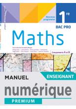 Mathématiques 1ère Bac Pro groupements A et B - Manuel numérique enseignant -  Éd. 2021