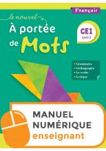 Le Nouvel A portée de mots CE1 - Manuel numérique simple enseignant - Ed. 2019