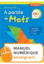 Le Nouvel A portée de mots CM1 - Manuel numérique simple enseignant - Edition 2019