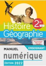 Manuel numérique Histoire/Géographie 2nde compilation - Licence enseignant - Ed. 2019