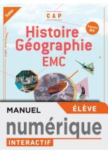 Histoire-Géographie-EMC CAP - Cahier numérique interactif élève - Éd. 2019