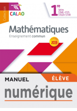 Calao Mathématiques 1re STMG, STHR, ST2S, STD2A - Manuel numérique élève - Éd. 2019