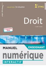 En situation Droit 1re STMG - Manuel interactif enseignant - Éd. 2019