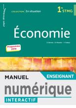 En situation Économie 1re STMG - Manuel interactif enseignant - Éd. 2019