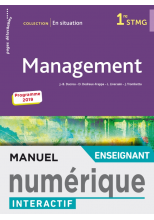 En situation Management 1re STMG - Manuel interactif enseignant - Éd. 2019