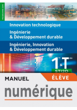 IT - I2D - 2I2D 1re/Tle STI2D - Manuel numérique élève - Éd. 2019