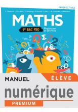 Perspectives Mathématiques 1ère Bac Pro Production et Services - Manuel numérique élève -Ed 2020