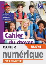Version numérique élève Cahier du citoyen 5e - éd. 2019