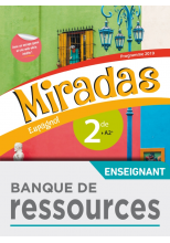 Banque de ressources Miradas 2nde - Ed. 2019