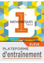 Plateforme d'entraînement Barbazo Maths 1ère - Ed. 2019