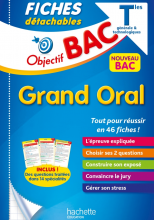 Objectif BAC - Fiches Grand oral du Bac