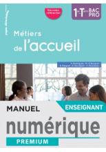Métiers de l'accueil 1re/Term Bac Pro - Manuel numérique enseignant - Éd. 2020