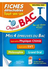 Objectif BAC Fiches  Tout-en-un Tle Spécialités Physique-chimie et SVT + Philo + Grand oral