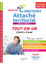 Objectif Concours 2020/2021 Attaché territorial (concours externe)