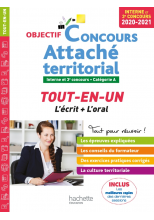Objectif Concours 2020/2021 Attaché territorial (concours interne)