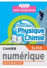 Mon labo de Physique-Chimie cycle 4 - Cahier numérique élève - Ed. 2021