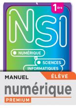 Numérique et Sciences Informatiques 1re Spécialité - Manuel numérique élève - Ed. 2021
