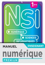 Numérique et Sciences Informatiques 1re Spécialité - Manuel numérique enseignant - Ed. 2021