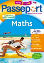 Passeport - Maths de la 5e à la 4e - Cahier de vacances 2021