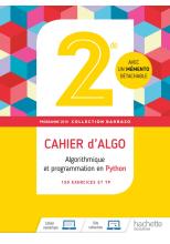Barbazo algo 2nde - Cahier d'exercices - Ed. 2019