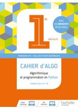 Barbazo algo 1ère - Cahier d'exercices - Ed. 2019