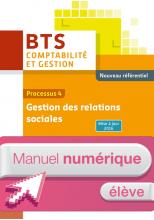 P4 Gestion des relations sociales BTS1 CG - Manuel numérique élève simple - Éd. 2016
