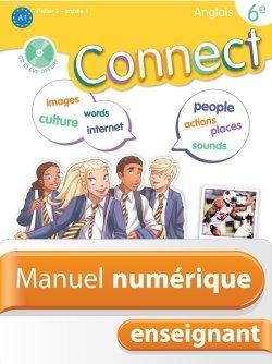 Manuel numérique Connect anglais 6e - Licence enseignant - Edition 2011