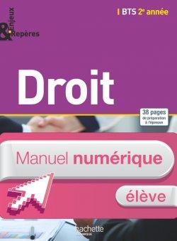 Enjeux et Repères Droit BTS 2e année - Manuel numérique élève simple - Ed. 2015