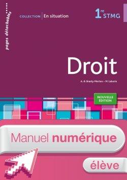 En situation Droit 1re STMG - Manuel numérique élève simple - Ed. 2015