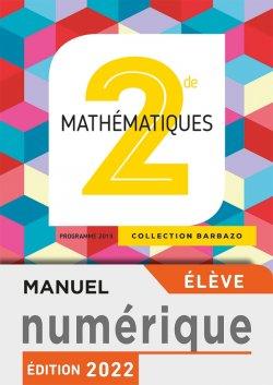 Manuel numérique Mathématiques Barbazo 2nde - Licence élève - Ed. 2019