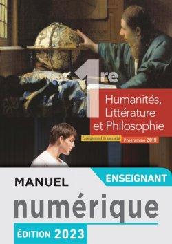 Manuel numérique Humanités, Littérature et Philosophie 1ère spé - Licence enseignant - Ed. 2019