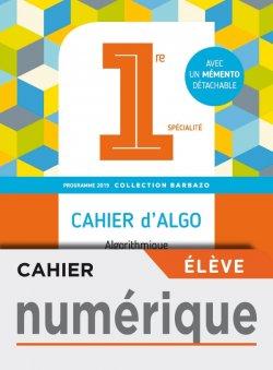 Cahier numérique élève - Barbazo algo 1ère - Ed. 2019