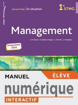 En situation Management 1re STMG - Manuel interactif élève - Éd. 2019