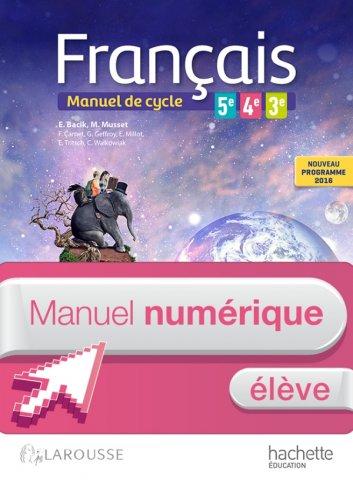 Francais 5e 4e 3e Cycle 4 Manuel Numerique Eleve Enrichi Ed 2016 Hachette Education Enseignants