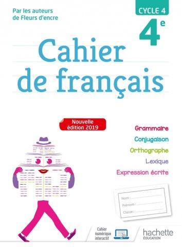 Cahier De Francais Cycle 4 4e Ed 2019 Hachette Education Enseignants