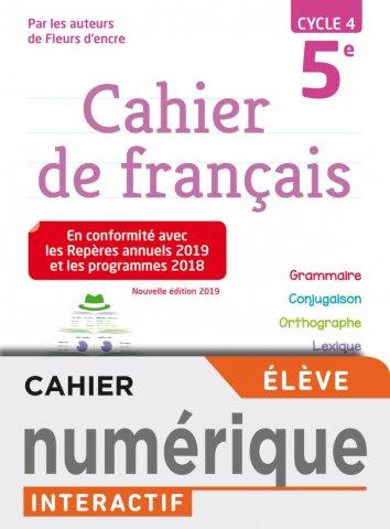 Version Numerique Eleve Cahier De Francais Cycle 4 5e Ed