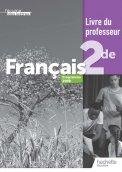 L'écume des lettres 2nde - Livre du professeur - Ed. 2019