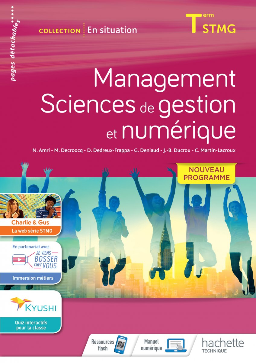 Couverture Management SDGN terminale STMG